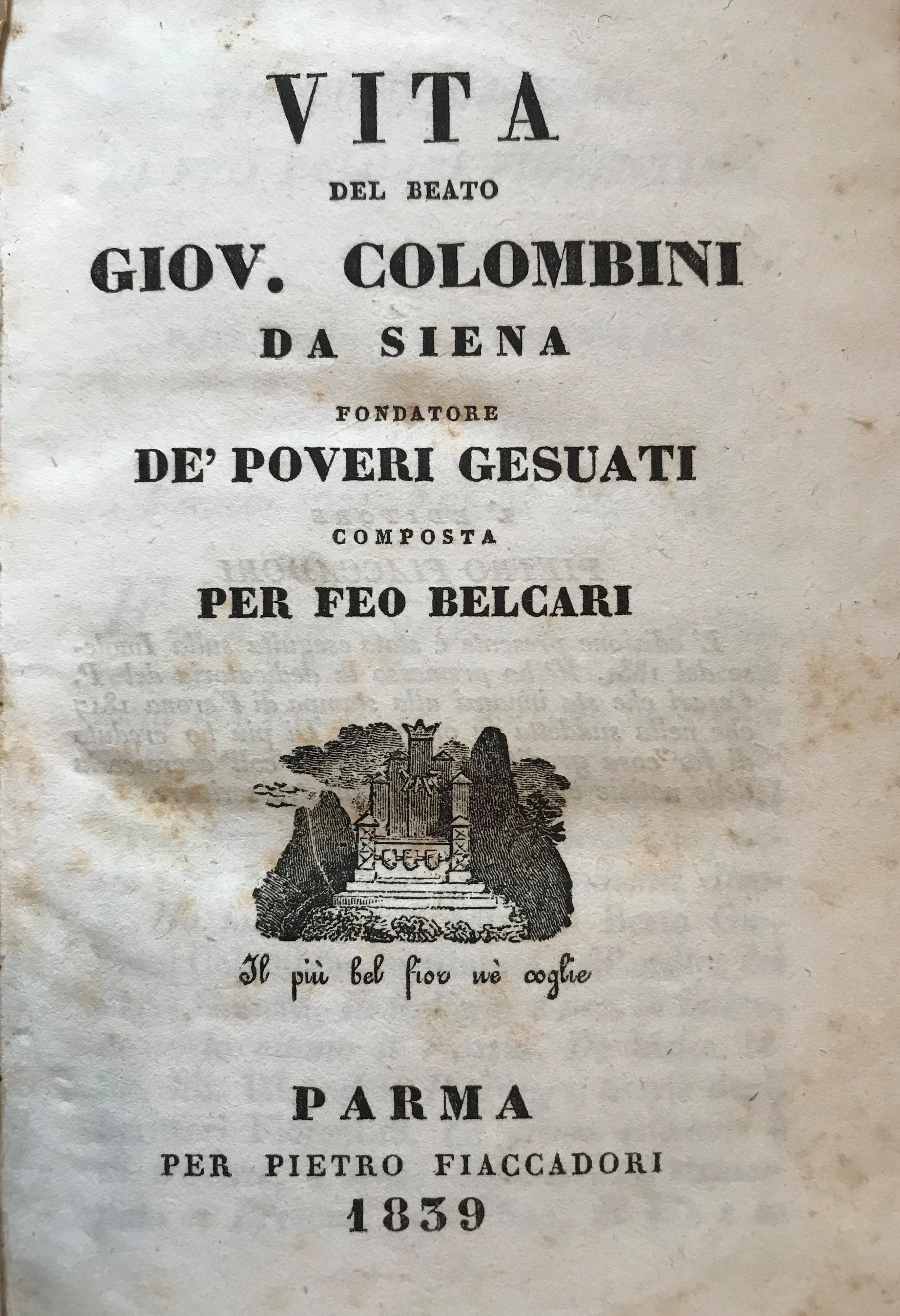 Vita del Beato Giovanni Colombini da Siena